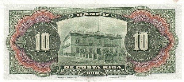 Costa Rica 10 Colones (1901-1908 Banco de Costa Rica)