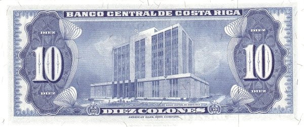 Costa Rica 10 Colones (1969-1970 Banco Central de Costa Rica)