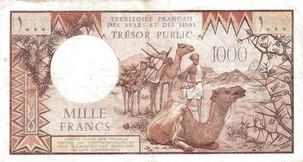 Djibouti 1000 Francs (1975 Territoire Français des Afars et des Issas)