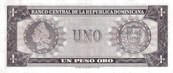 Dominican Republic 1 Peso (1964-1974 Banco Central de la República Dominicana)