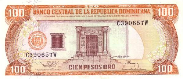 Dominican Republic 100 Pesos (1991-1994 Banco Central de la República Dominicana)