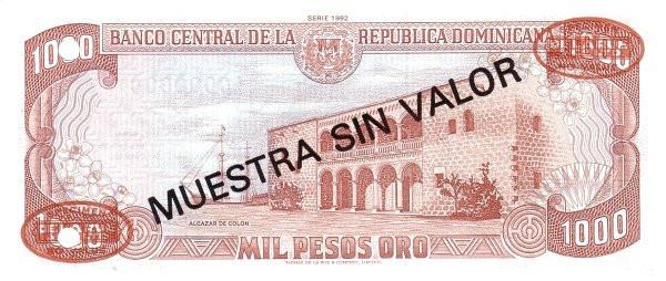 Dominican Republic 1000 Pesos (1992 Banco Central de la República Dominicana)