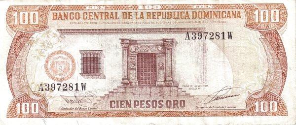Dominican Republic 100 Pesos (1993 Banco Central de la República Dominicana)