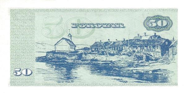 Faroer Islands 50 Kroner (1964-1975 Faeroe Islands Government)