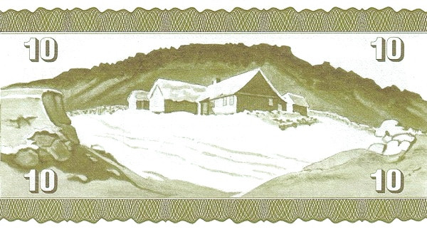 Faroer Islands 100 Kroner (1964-1975 Faeroe Islands Government)