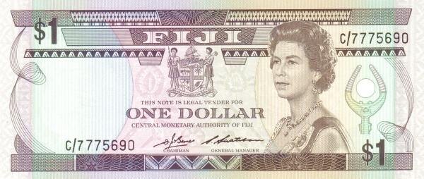 Fiji 1 Dollar (1983-1986 Central Monetary Authority of Fiji-Signature Barnes & Siwatibau)