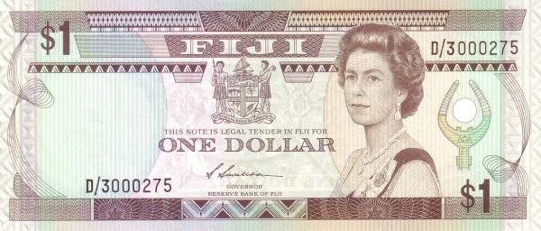 Fiji 1 Dollar (1987 Reserve Bank of Fiji)