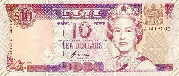Fiji 10 Dollars (1992-1996 Reserve Bank of Fiji)
