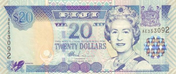Fiji 20 Dollars (2002 Reserve Bank of Fiji)