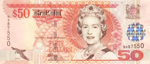 Fiji 50 Dollars (2002 Reserve Bank of Fiji)