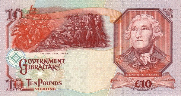 Gibraltar 10 Pounds (1995 Government of Gibraltar)
