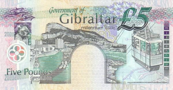 "Gibraltar 5 Pounds (2000 Millennium"" Government of Gibraltar)"""