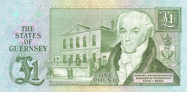 Guernsey 1 Pound (1980 Treasurer of The States of Guernsey)