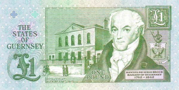 Guernsey 1 Pound (1990-2016 Treasurer of The States of Guernsey)