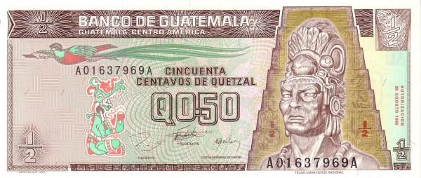 Guatemala 50 Centavos de Quetzal
