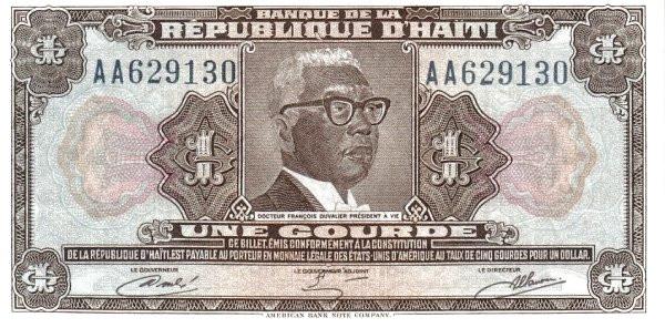 Haiti 1 Gourde (1980-1982 Banque de la République d'Haïti)
