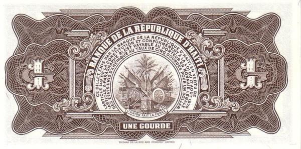 Haiti 1 Gourde (1984-1985 Banque de la République d'Haïti)