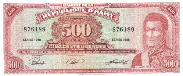 Haiti 500 Gourdes (1986-1988 Banque de la République d'Haïti)