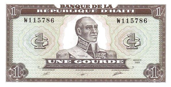 Haiti 1 Gourde (1989-1999 Banque de la République d'Haïti)