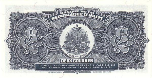 Haiti 2 Gourdes (1989-1999 Banque de la République d'Haïti)