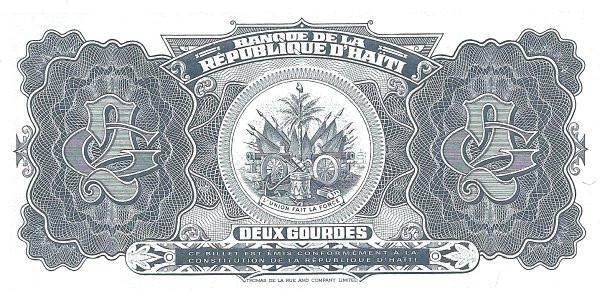 Haiti 2 Gourdes (1992-1994 Banque de la République d'Haïti)