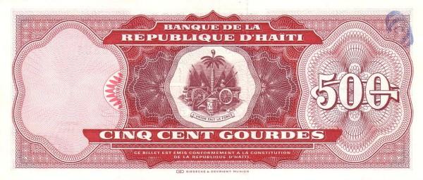 Haiti 500 Gourdes (1992-1994 Banque de la République d'Haïti)