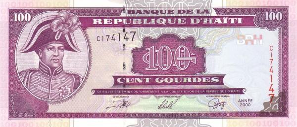 Haiti 100 Gourdes (2000-2015 Banque de la République d'Haïti)