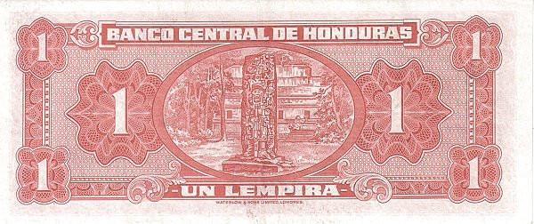 Honduras 1 Lempira (1950-1973 Banco Central de Honduras)