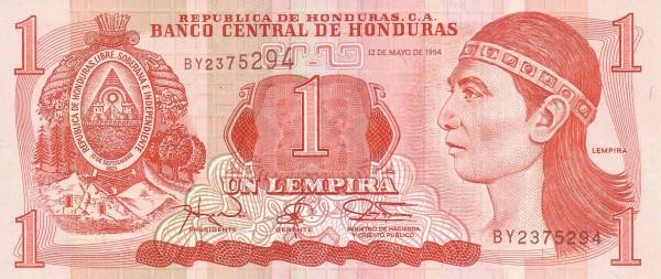 Honduras 1 Lempira (1994-2010 Banco Central de Honduras)