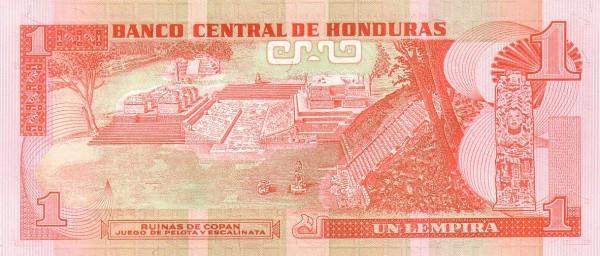Honduras 1 Lempira (1996-2008 Banco Central de Honduras)
