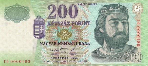 Hungary 200 Forint (1997-1999)