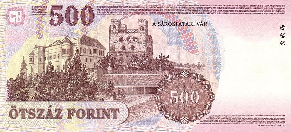 Hungary 500 Forint (1997-1999)