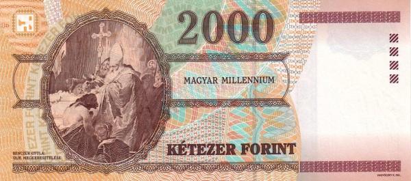 "Hungary 2000 Forint (2000 Millennium"")"""