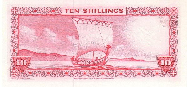 Isle of Man 10 Shillings (1961-1967 Isle of Man Government)