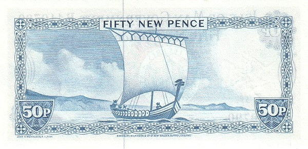 Isle of Man 50 New Pence(1972-1991 Isle of Man Government)