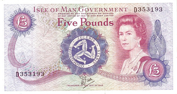 "Isle of Man 5 Pounds (1979-1987 Treasurer of the Isle of Man Dawson"" Isle of Man Government)"""