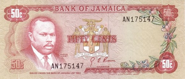 Jamaica 50 Cents (1970 Bank of Jamaica)