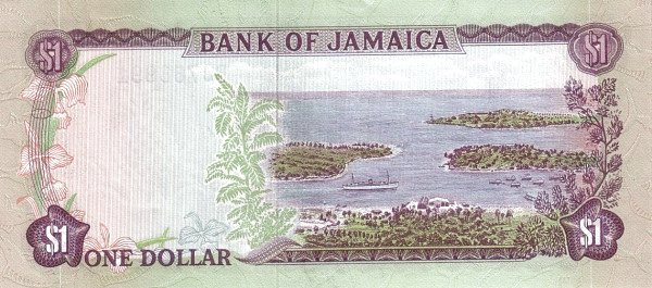 Jamaica 1 Dollar (1970 Bank of Jamaica)