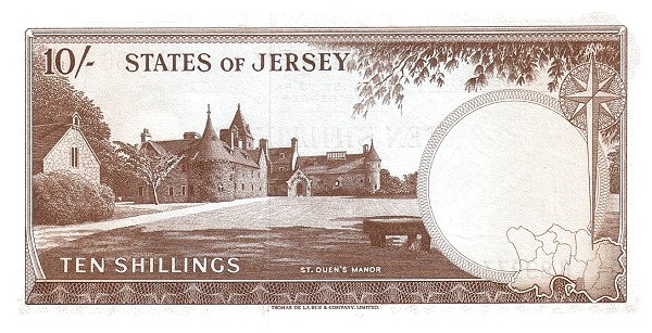 Jersey 10 Shillings (1963-1972 Treasury of the States of Jersey)