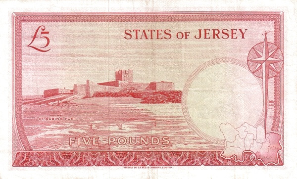 Jersey 5 Pounds ( 1963-1972 Treasury of the States of Jersey)