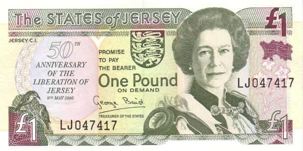 "Jersey 1 Pound (1995 50th Anniversary of Liberation"" Treasury of the States of Jersey)"""