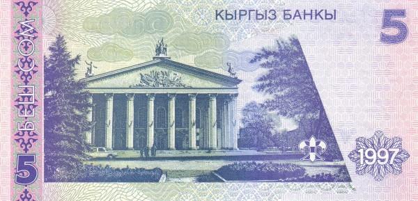 Kyrgyzstan 5 Som (1997 Kyrgyz Banky)
