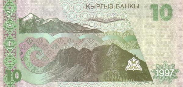 Kyrgyzstan 10 Som (1997 Kyrgyz Banky)