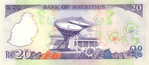 Mauritius 20 Rupees (1985-1991 Bank of Mauritius)