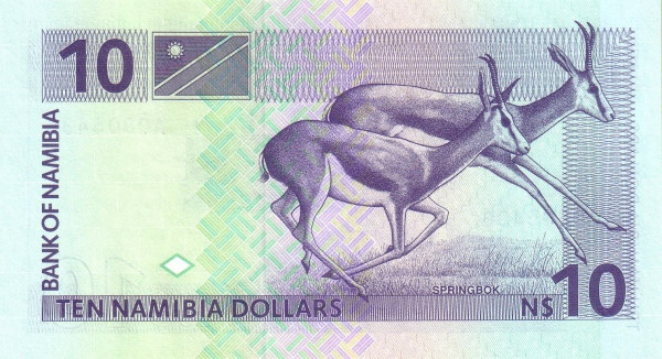 Namibia 10 Dollars (1993 Bank of Namibia)