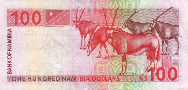 Namibia 100 Dollars (1993 Bank of Namibia)