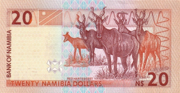 Namibia 20 Dollars (Bank of Namibia)
