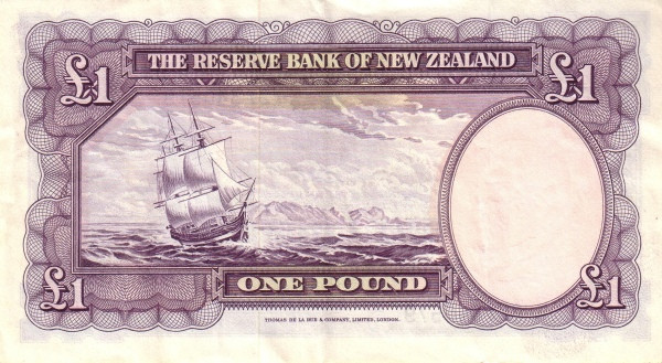 """New Zealand 1 Pound (1940-1967 Captain Cook"""" Reserve Bank of New Zealand)"""""""