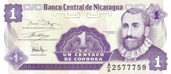 Nicaragua 1 Centavo (1991-1992 Series A)