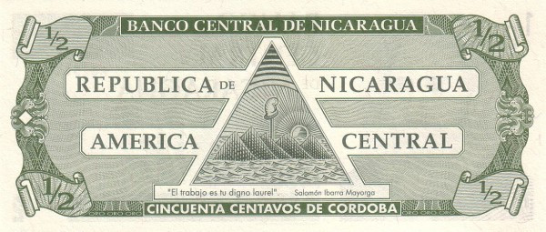 Nicaragua ½ Córdoba (1991Series A)